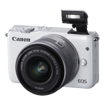 Canon EOS M10 systeemcamera Wit + 15-45mm IS STM Zilver