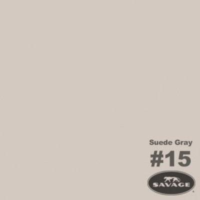 Savage Achtergrondrol Suede Grey (nr 15) 1.38m x 11m