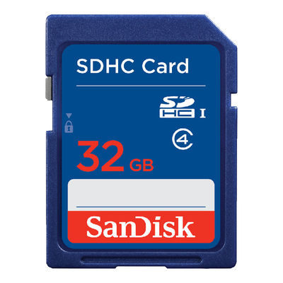SanDisk 32GB SDHC UHS-I Class 4 10MB/s geheugenkaart