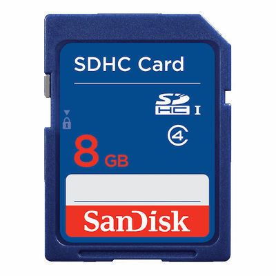 SanDisk 8GB SDHC UHS-I Class 4 10MB/s geheugenkaart