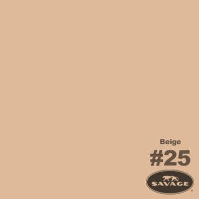 Savage Achtergrondrol Beige (nr 25) 1.38m x 11m