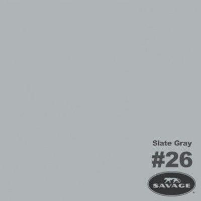 Savage Achtergrondrol Slate Grey (nr 26) 1.38m x 11m