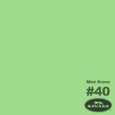 Savage Achtergrondrol Mint Green (nr 40) 1.38m x 11m
