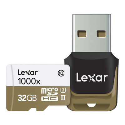 Lexar High Speed 32GB 1000x UHS-2 micro SDHC-kaart + adapter