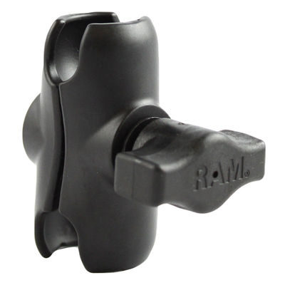 "RAM Mounts RAM-B-201U-A Short Double Socket Arm voor 1"" bal"