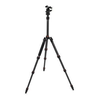 Rollei Fotopro Compact Traveller No. 1 Carbon statief Zwart