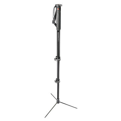 Manfrotto XPRO 3-section met base Aluminium monopod