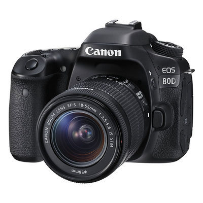 Canon EOS 80D DSLR + 18-55mm f/3.5-5.6 IS STM