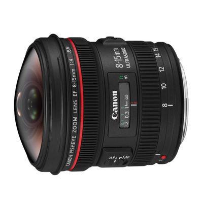 Canon EF 8-15mm f/4.0L Fisheye USM objectief - Verhuur
