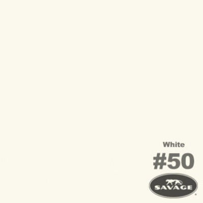 Savage Achtergrondrol White (nr 50) 1.38m x 11m