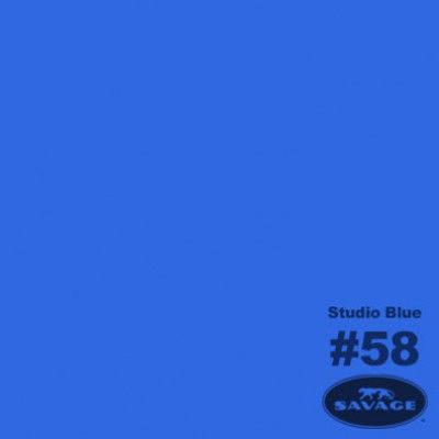 Savage Achtergrondrol Chroma Key Studio Blue (nr 58) 1.38m x 11m (2963058)