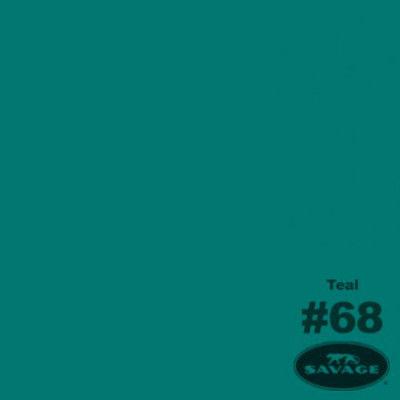 Savage Achtergrondrol Teal (nr 68) 1.38m x 11m