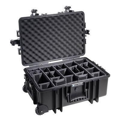 B&W Outdoor Case Type 6700 - Zwart met Vakverdeler