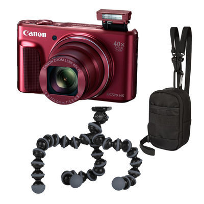 Canon PowerShot SX720 HS compact camera Rood Travel Kit