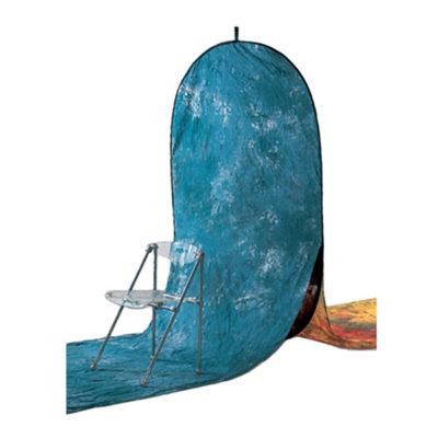 Visico Background Drop 150 x 180 cm - incl. 2 extra doeken (Kleur: W-358) Blauw (28953)