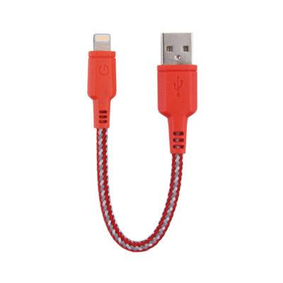 EnerGea Nylotough Lightning USB-kabel 16cm Rood