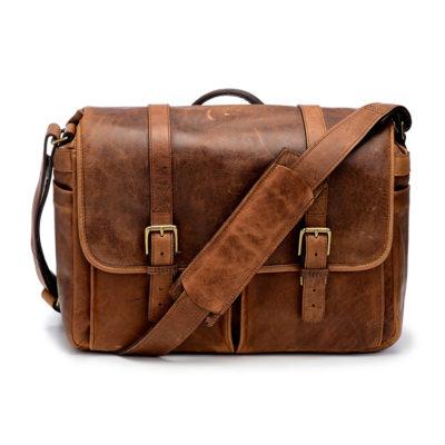 ONA The Brixton Leather Cognac Messenger Bag