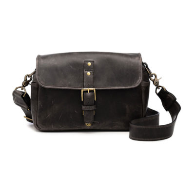 ONA The Bowery Leather Dark Truffle Messenger Bag