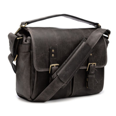 ONA The Prince Street Leather Dark Truffle Messenger Bag