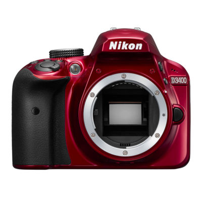 Nikon D3400 DSLR Body Rood