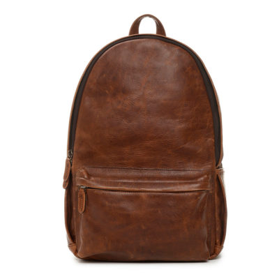 ONA The Clifton Leather Antique Cognac Backpack