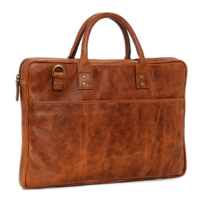 ONA The Kingston Leather Antique Cognac Briefcase