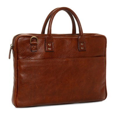 ONA The Kingston Leather Walnut Briefcase
