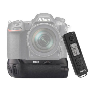Meike MB-D17 Battery Grip voor Nikon D500 + afstandsbediening