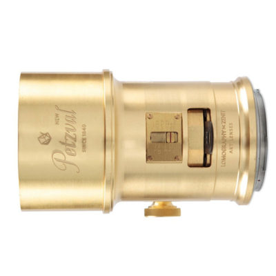 Lomography New Petzval 85 Art Nikon F objectief Brass