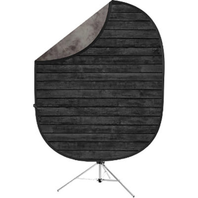 Savage 2-zijdige Opvouwbare Achtergrond Kit 152 x 183cm (Dark Planks/Light Gray)