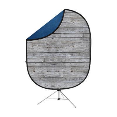 Savage 2-zijdige Opvouwbare Achtergrond Kit 152 x 183cm (Gray Pine/Blue)