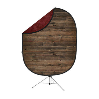 Savage 2-zijdige Opvouwbare Achtergrond Kit 152 x 183cm (Rustic Planks/Red)