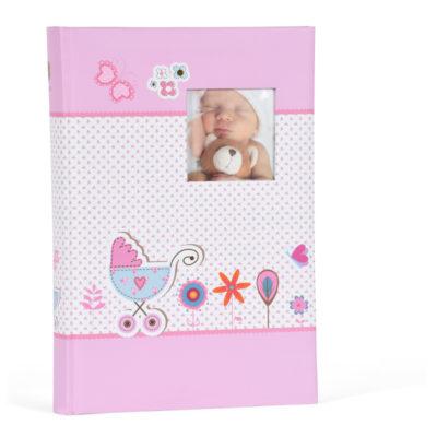 Henzo Slip-in Fotoalbum Baby Moments Roze (300 foto's)