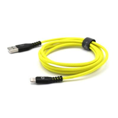 EnerGea AluTough USB-A naar Lightning-kabel 1.5m Yellow