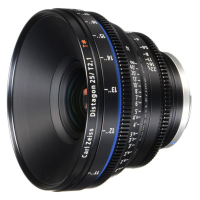 Carl Zeiss Compact Prime CP.2 Distagon T* 25mm T2.1 Meters objectief Canon EF-vatting