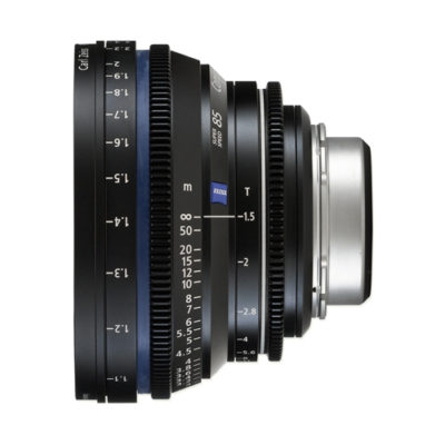 Carl Zeiss Compact Prime CP.2 Distagon T* 85mm T1.5 Meters Super Speed objectief Canon EF-vatting