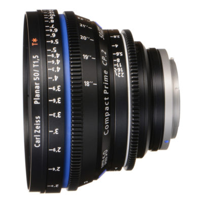 Carl Zeiss Compact Prime CP.2 Distagon T* 50mm T1.5 Meters Super Speed objectief Canon EF-vatting