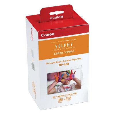 Canon RP-108 Postcard-size 10x15cm Inkt/Papier-set