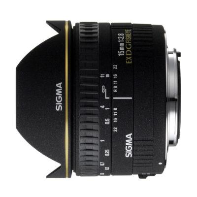 Sigma 15mm f/2.8 EX DG Diagonaal Fisheye Canon objectief