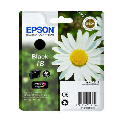Epson Inktpatroon 18 - Black Standard Capacity