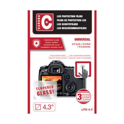 """Caruba LCD Optical Glass Protector 4.3"""" - 2 stuks"""