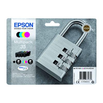 Epson Inktpatroonset 35 Multipack Zwart/Cyaan/Magenta/Geel