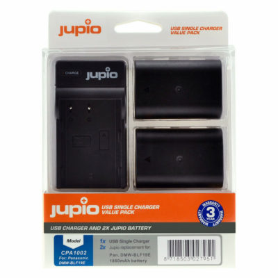 Panasonic DMW-BLF19E USB Single Charger Kit (Merk Jupio)
