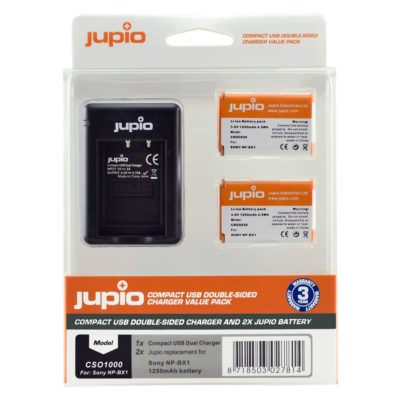 Sony NP-BX1 USB Double Sided Charger Kit (Merk Jupio)