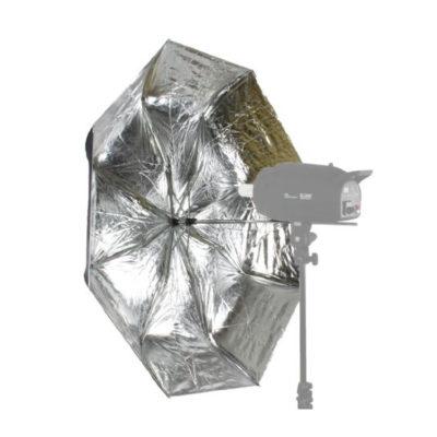 Falcon Eyes Flitsparaplu Opvouwbaar R-210SB Zilver/Zwart 110cm