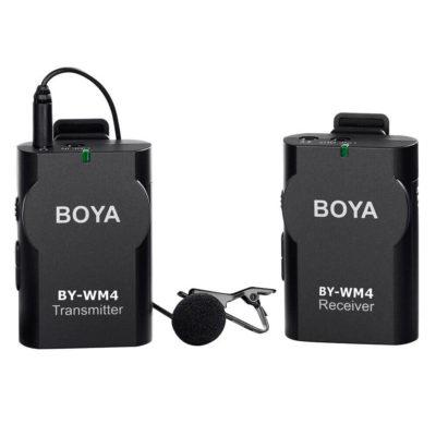 Boya BY-WM4 Microfoon Draadloos voor DSLR en Smartphone