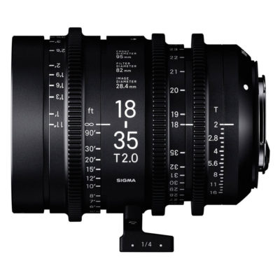Sigma 18-35mm T2.0 Cine High-Speed Zoom Canon EF-mount objectief
