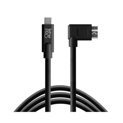 Tether Tools TetherPro USB-C naar USB 3.0 Micro-B Right Angle 4.6m kabel Zwart