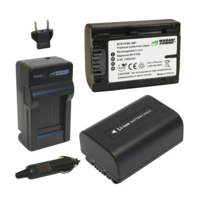Wasabi Power Sony NP-FV50 Accu en Lader Kit