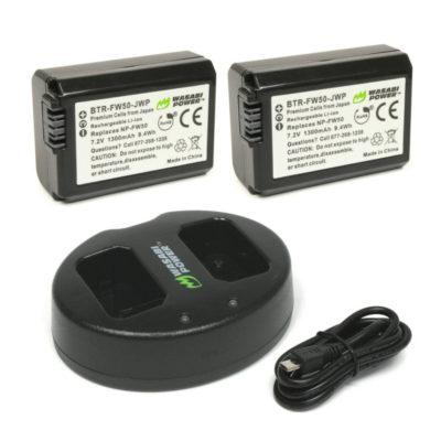 Wasabi Power Sony NP-FW50 Accu en Dual  USB Lader
